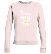 Laden Sie das Bild in den Galerie-Viewer, Kiss my Edelweiss Trachten-Ladies Organic Sweatshirt - Shirtista