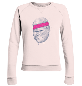 Gorilla Workout-Ladies Organic Sweatshirt - Shirtista