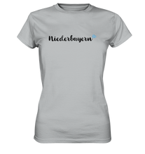 Laden Sie das Bild in den Galerie-Viewer, Niederbayern T-Shirt mit Herz - Ladies Premium - Shirtista