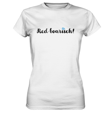 Red boarisch Bayern T-Shirt - Damen Premium - Shirtista