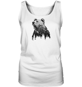 Bär in Natur-Ladies Tank-Top - Shirtista