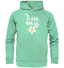 Laden Sie das Bild in den Galerie-Viewer, Kiss my Edelweiss Trachten-Organic Hooded Sweat - Shirtista