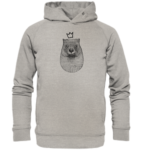 König Wombat-Organic Hooded Sweat - Shirtista