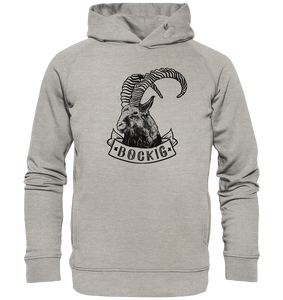 Bockig Steinbock-Organic Hooded Sweat - Shirtista