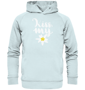 Kiss my Edelweiss Trachten-Organic Hooded Sweat - Shirtista