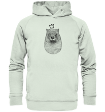Laden Sie das Bild in den Galerie-Viewer, König Wombat-Organic Hooded Sweat - Shirtista