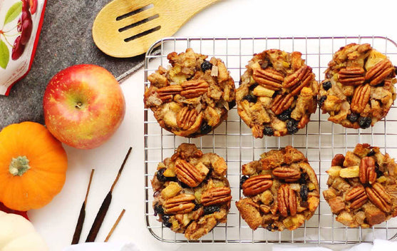 Vegetarian Stuffing Muffins Recipe | Fruit Bliss