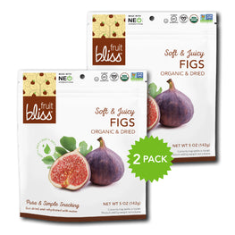 2-Pack Fruit Bliss Organic Turkish Fig Snacks (5 oz. each)