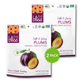 2-Pack Fruit Bliss Organic Plums (5 oz. each)