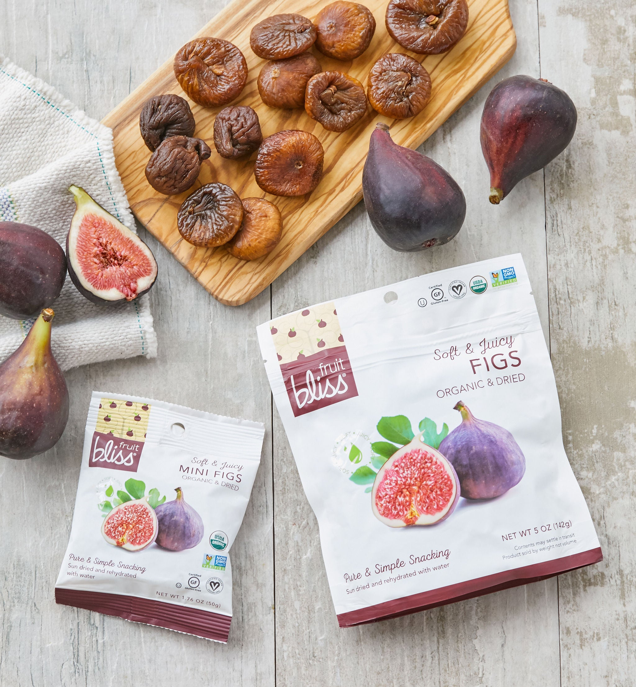 Fruit Bliss Organic Turkish Fig Snacks 5 oz. (Case of 6)