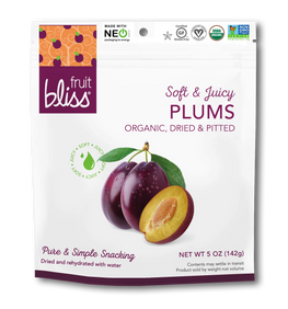 Fruit Bliss Organic Plum Snacks 5 oz. (Case of 6)