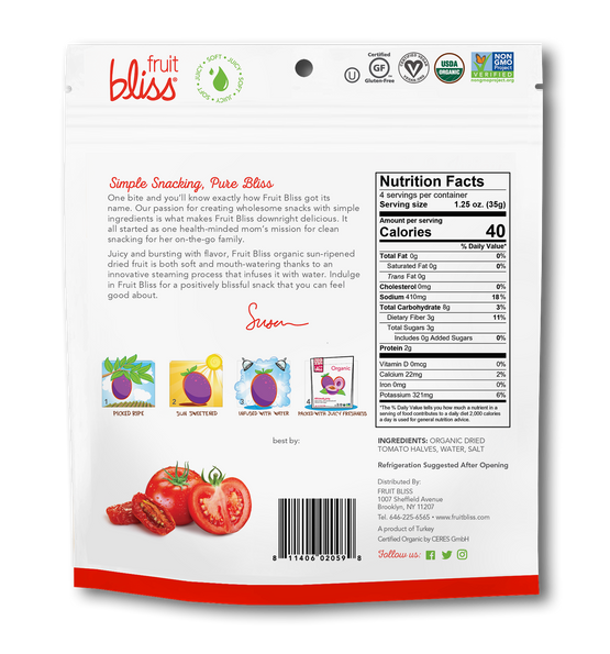 Fruit Bliss Turkish Tomato Organic Snacks