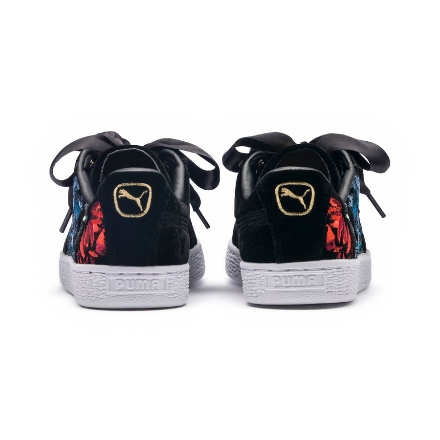 Puma Basket Heart Embroidered Women's Sneakers