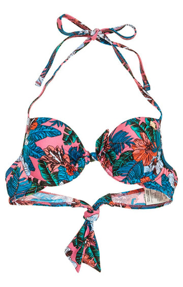 SUPERDRY POP HIBISCUS  CUP BIKINI TOP