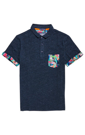 Superdry jersey all-over print pocket polo