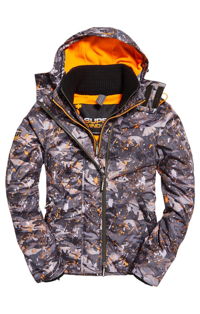 Superdry SD arctic hood print pop zip windcheater