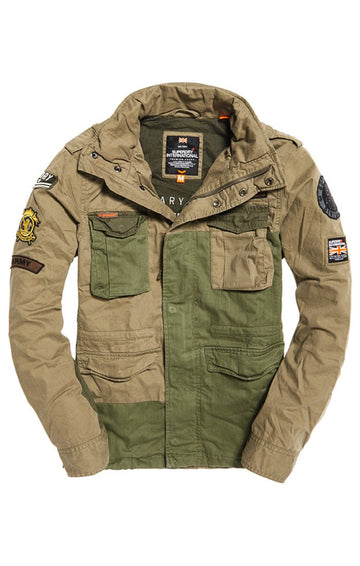 Superdry rookie mixed military jacket