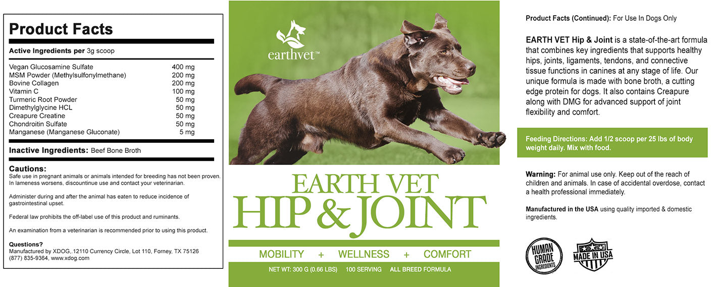 Earth Vet™ Hip and Joint Formula for Dogs