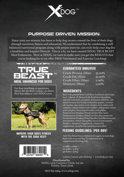 True Beast Freeze Dried Beef (Meal Enhancer)