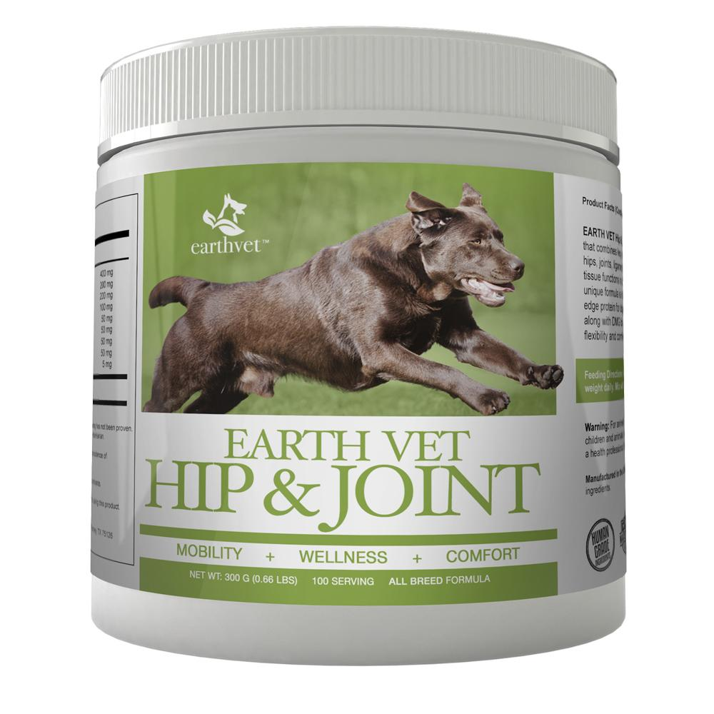 Earth Vet Hip & Joint Formula for Dogs 100 Servings (Closeout)