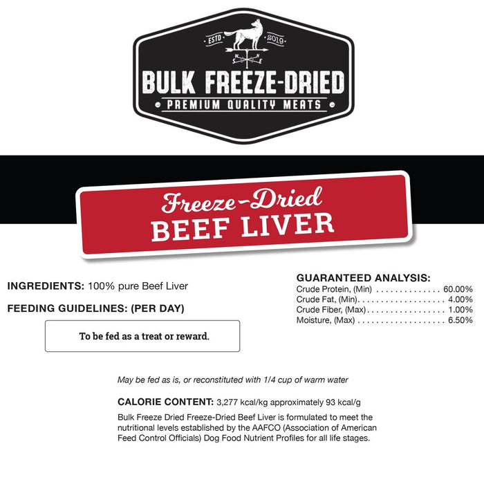 Freeze-Dried Beef Liver