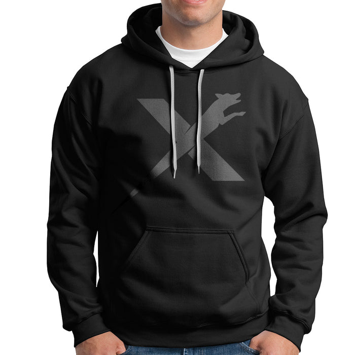 XDOG Hoodie (Unisex) Black with Charcoal Logo