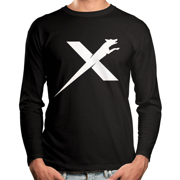 XDOG Long Sleeve Black Shirt With White Logo (Unisex)