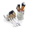 Marble Brush Set With Holder