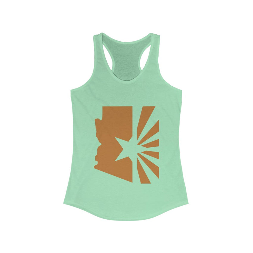 "Women's State Series ""Copper Flag"" Fitted Racerback Tank"