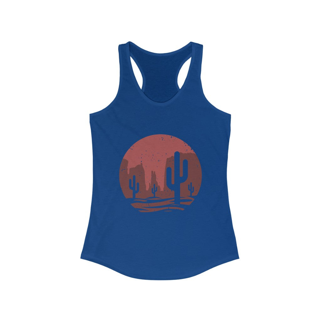 Women's Cathedral Rock Fitted Racerback Tank