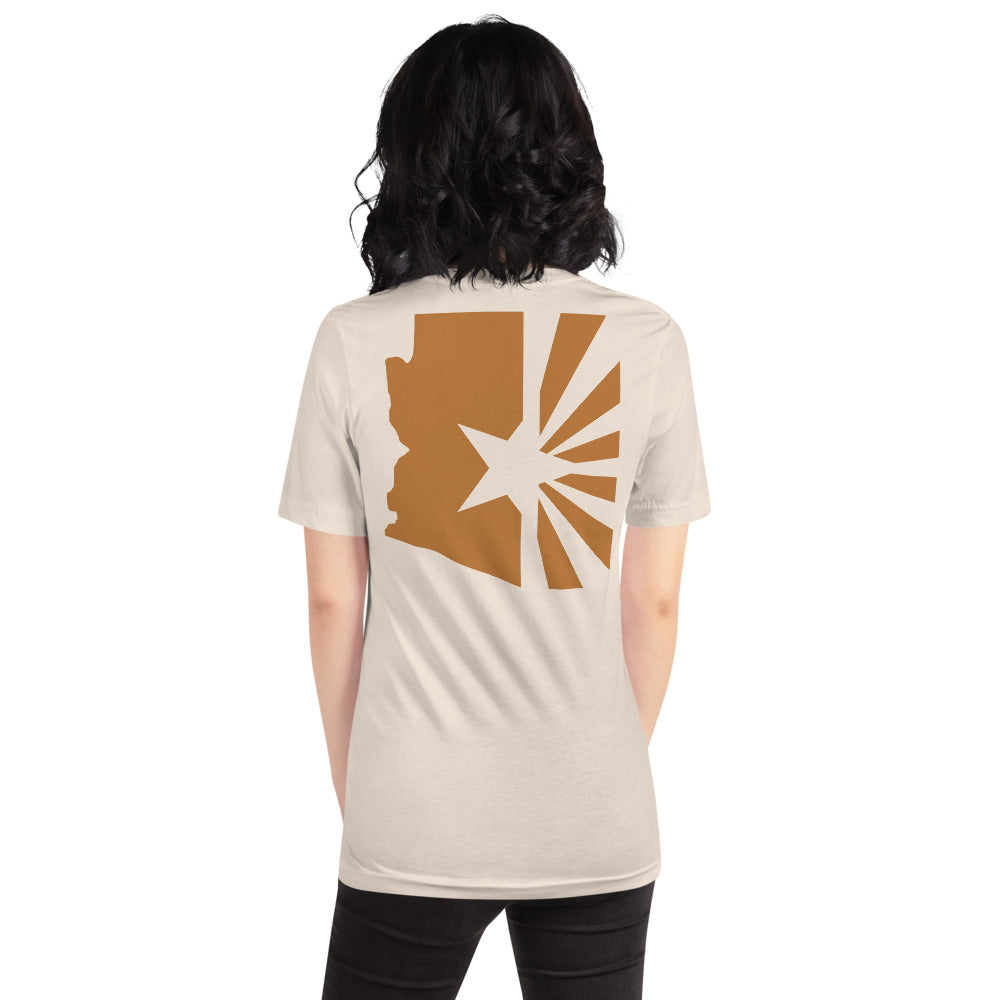 "Women's State Series ""Copper Flag"" Tee (Back)"