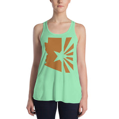 Women's Copper Flag Flowy Racerback Tank
