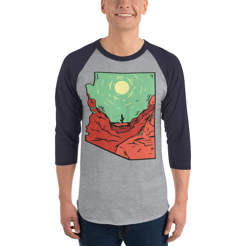 "Men's State Series ""Lone Cacti"" 3/4 Sleeve"