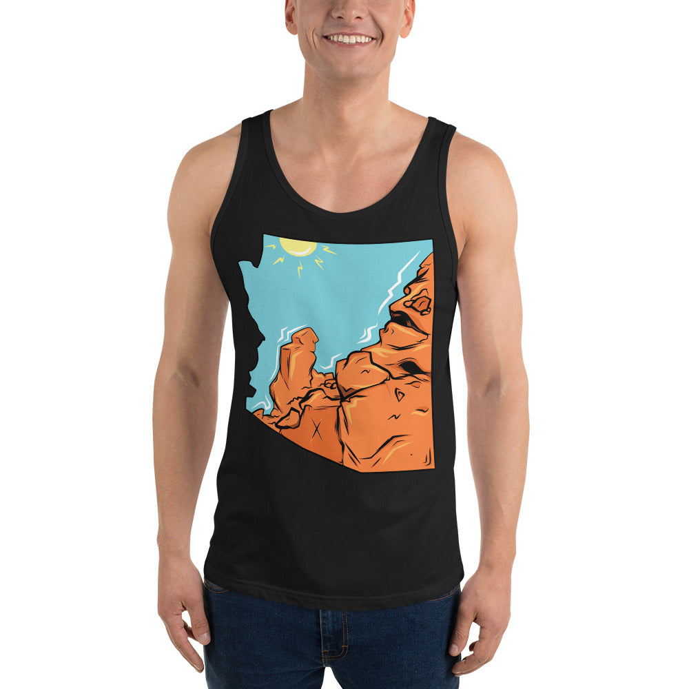 "Men's State Series ""Praying Monk"" Tank"