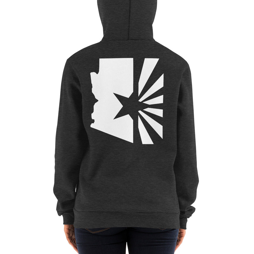 "Women's State Series ""White Flag"" Zip Hoodie (Unisex)"