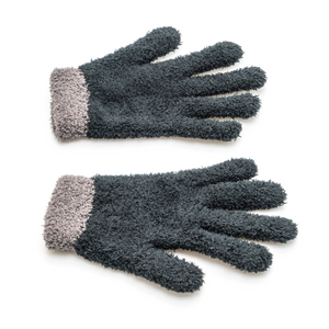 Charcoal Grey Woollen Gloves