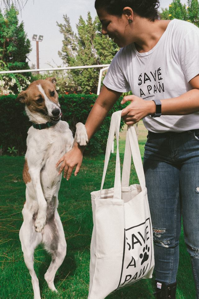 Save A Paw Tote Bag