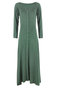 Long Sleeve Button Dress.