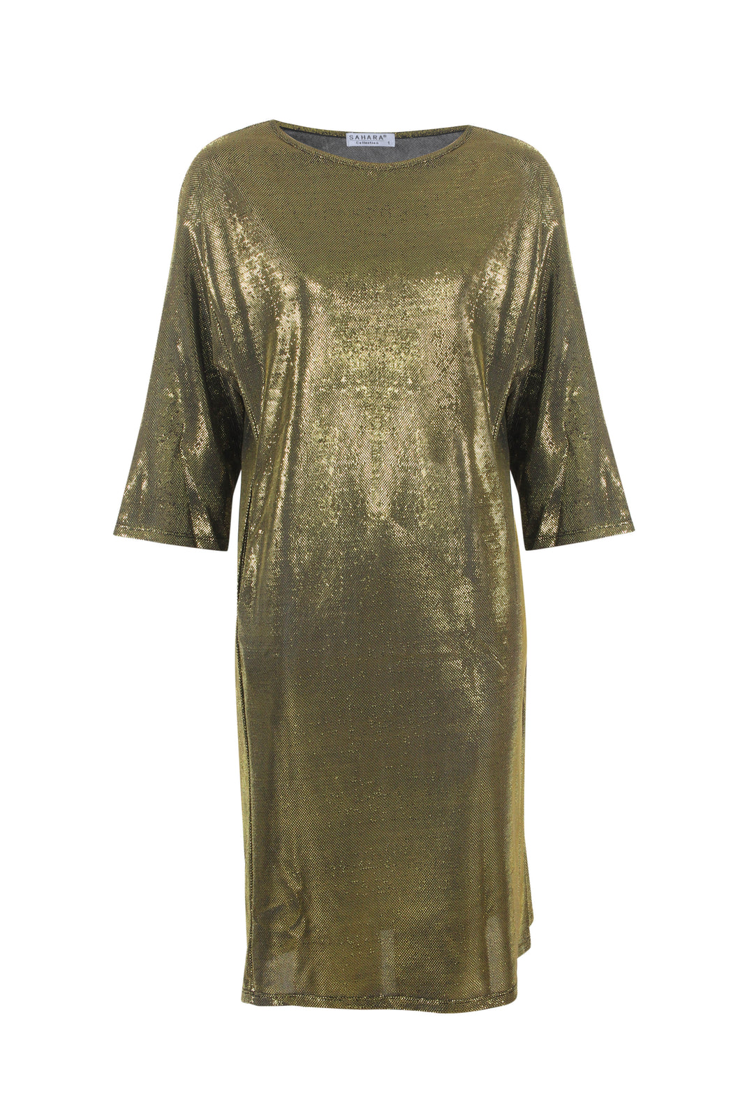 Metallic Shift Dress