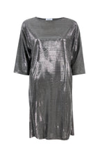 Load image into Gallery viewer, Metallic Shift Dress
