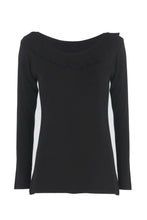 Load image into Gallery viewer, Long Sleeve Ruffle Collar Top.