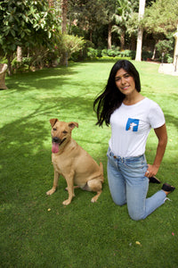 Women's Save A Paw Baladi Dog Portait Tee.