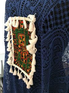 Crochet Kaftan with Siwa Embroidery.