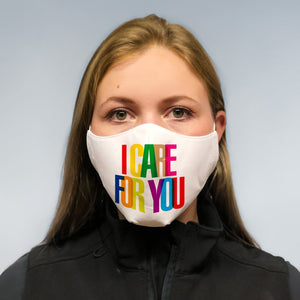 solidarity mask -  I CARE FOR YOU