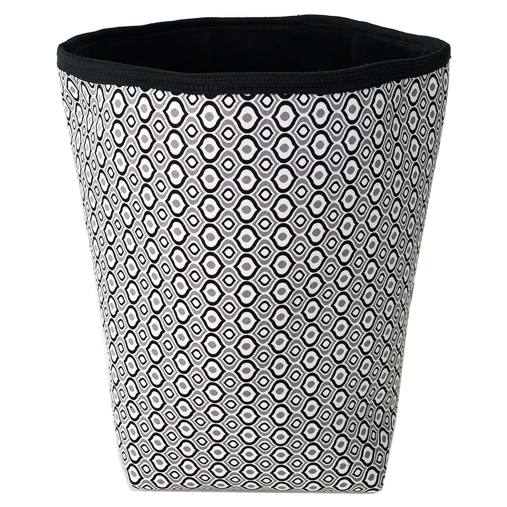 Deer Design Fabric Bucket Small - Black and White Geo