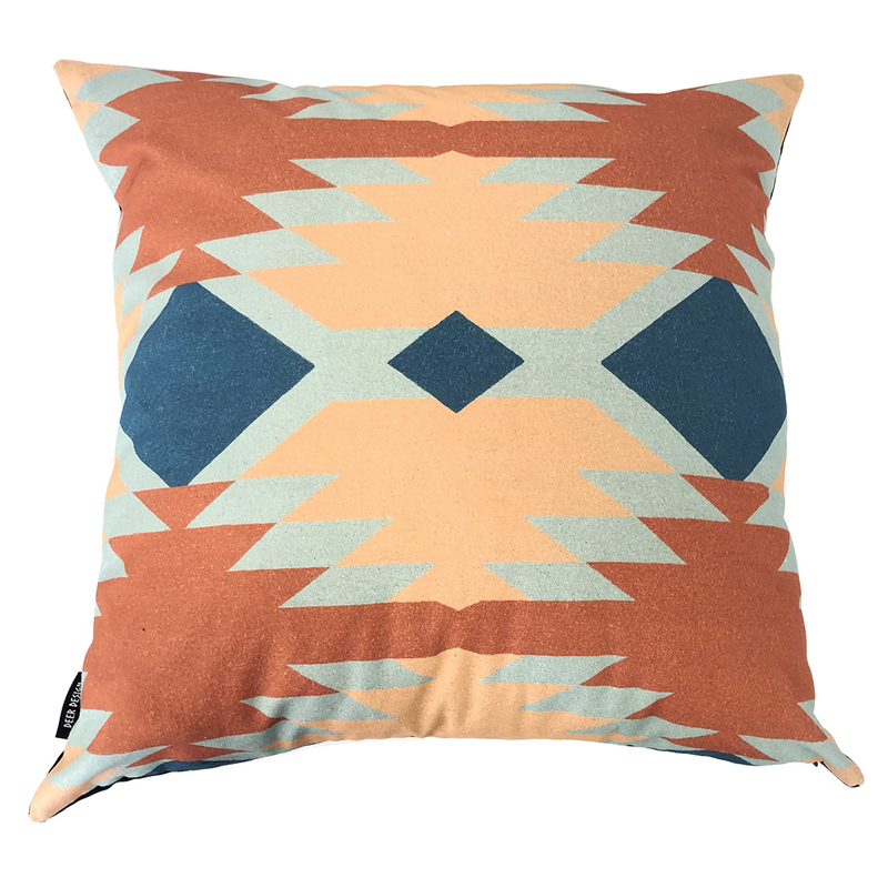 Deer Design Cushion Covers 60x60 - Tribal Chic Ochre