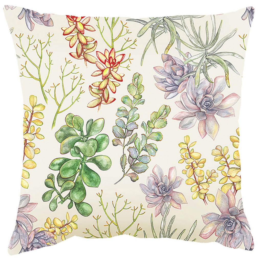 Peppertree Scatter Cushions 60x60 - Succulent Digital on Parchment