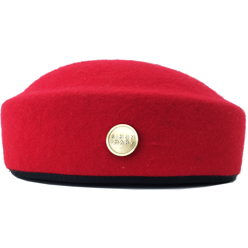 Simon & Mary Pillbox Fez Hat Red