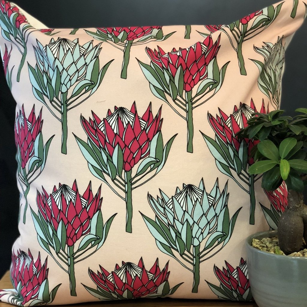 aLoveSupreme Cushion Covers 60x60 King Protea Pink on Pink