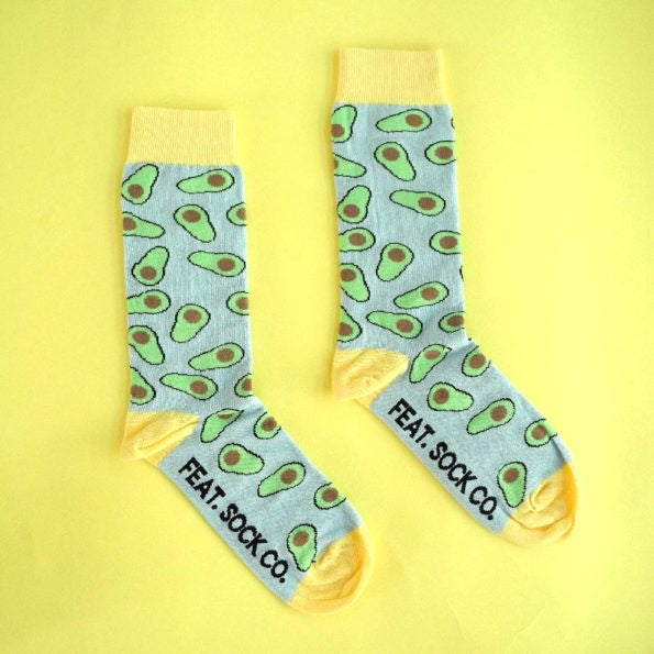 Feat Sock Co Blue & Yellow Avo